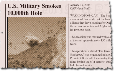 U.S. Military Smokes 10,000th Hole