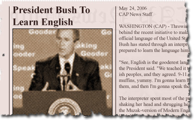 President Bush To Learn English