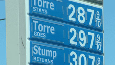Torre Firing Fears Force Oil Prices Up