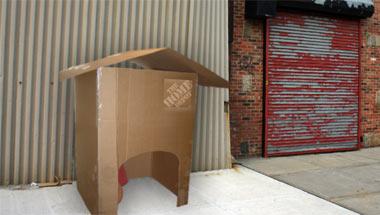 Habitat Plans Cardboard Housing For The Homeless