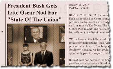 President Bush Gets Late Oscar Nod For