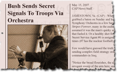 Bush Sends Secret Signals To Troops Via Orchestra