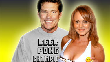 Hoff, Lohan To Lead Celebrity Beer Pong Team