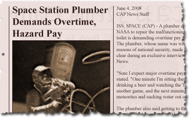 Space Station Plumber Demands Overtime, Hazard Pay