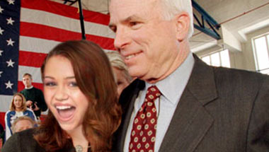 Memo Reveals Miley Cyrus As Original McCain VP Pick