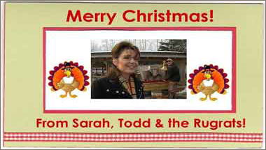 Sarah Palin Unveils 2008 Christmas Card
