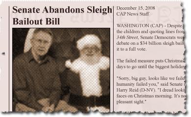 Senate Abandons Sleigh Bailout Bill