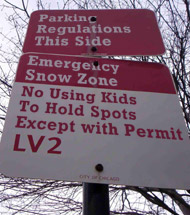 Snowbound Commuters Use Kids To Hold Parking Spots