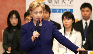 Clinton Says Korea Must End Provocative Sex Acts