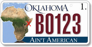 Oklahoma Okays New Birther License Plates