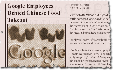 Google Employees Denied Chinese Food Takeout