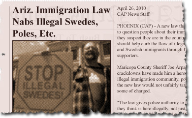 Ariz. Immigration Law Nabs Illegal Swedes, Poles, Etc.