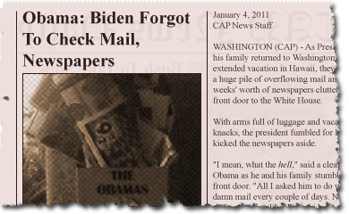 Obama: Biden Forgot To Check Mail, Newspapers