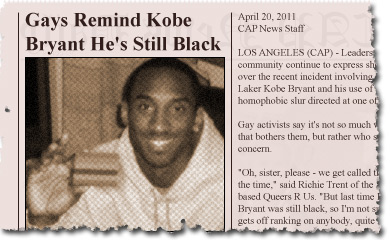 Gays Remind Kobe Bryant He's Still Black