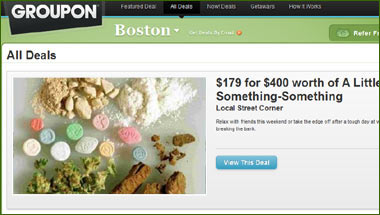 Groupon Expands Into Recreational Drugs
