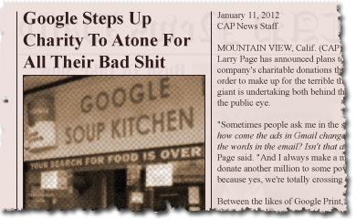 Google Steps Up Charity To Atone For All Their Bad Shit