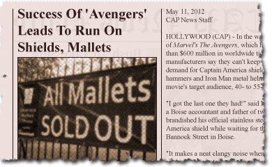 Success Of 'Avengers' Leads To Run On Shields, Mallets