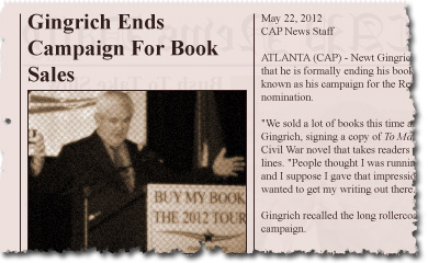 Gingrich Ends Campaign For Book Sales