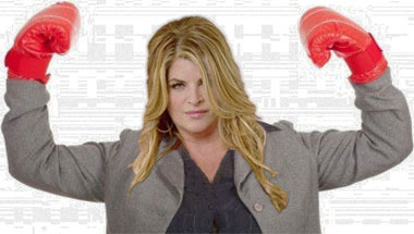 Kirstie Alley Slugs Maksim Chmerkovskiy, Just In Case