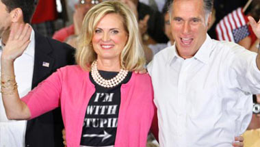Ann Romney Tells Rally She's 'Still On The Fence'